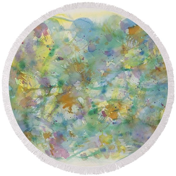 Under Water Heaven Round Beach Towel