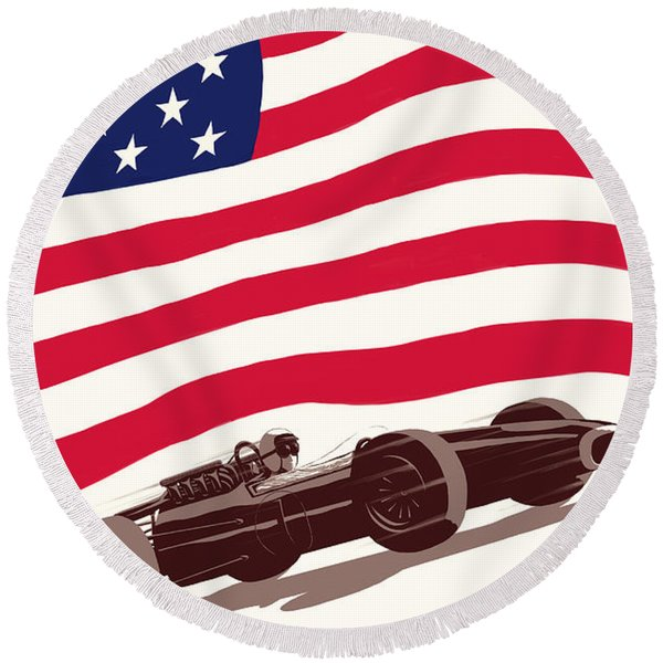 United States Grand Prix 1967 Round Beach Towel