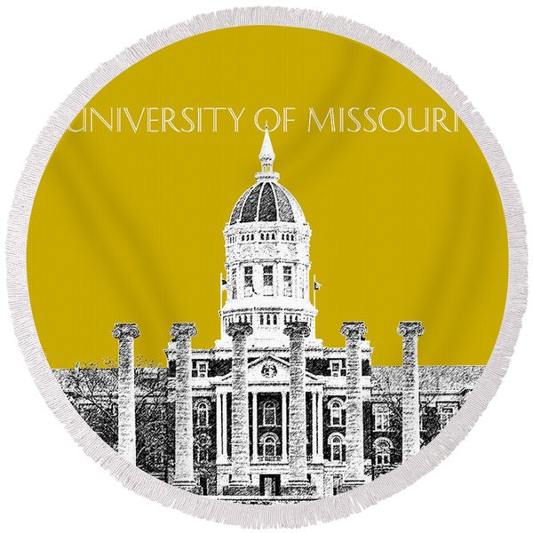 University Of Missouri - Gold Round Beach Towel