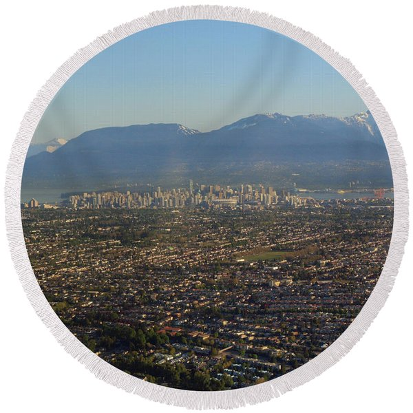 Vancouver At A Glance Round Beach Towel