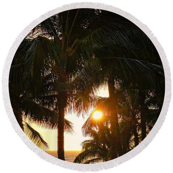 Waikoloa Palms Round Beach Towel