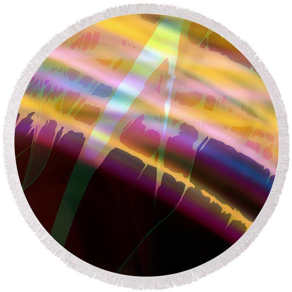Wave Light Round Beach Towel