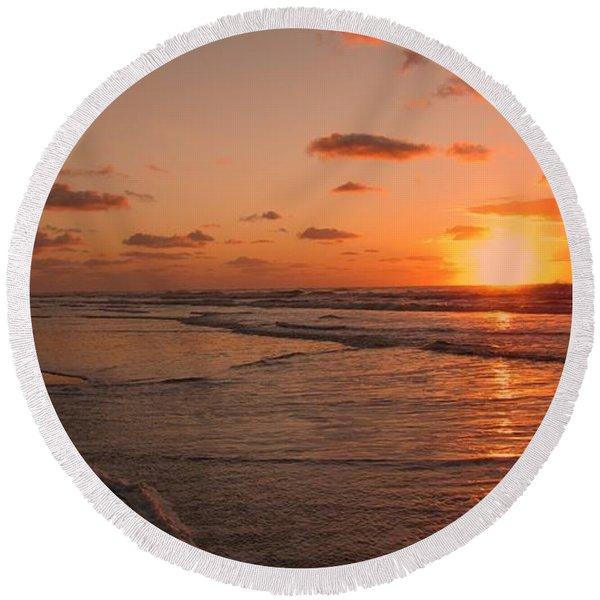 Wildwood Beach Sunrise II Round Beach Towel