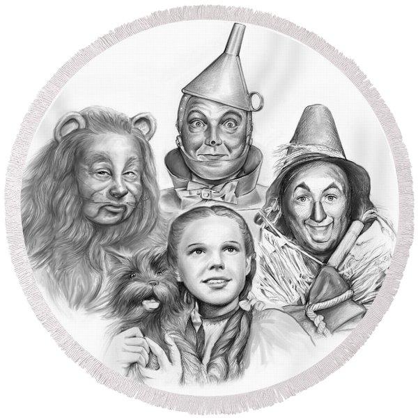 Wizard Of Oz Round Beach Towel