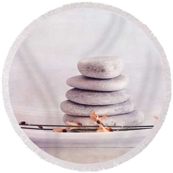 Zen Still Life Round Beach Towel