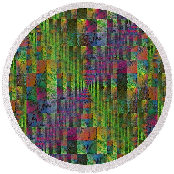 After The Rain 7 Round Beach Towel