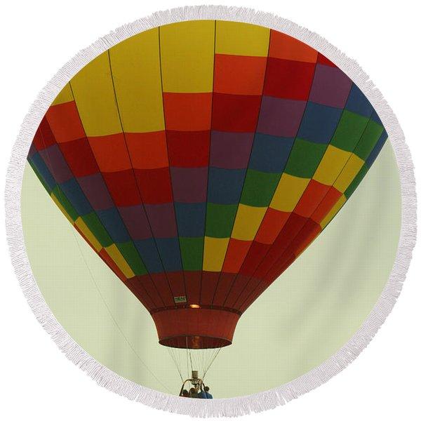 Balloon Ride Round Beach Towel