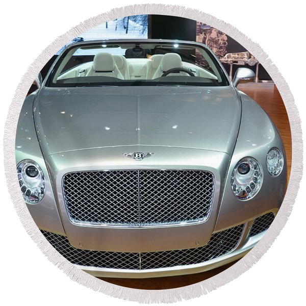 Bentley Starting Price Just Below 200 000 Round Beach Towel
