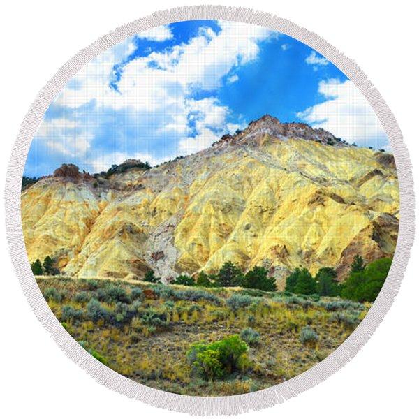 Big Rock Candy Mountain - Utah Round Beach Towel