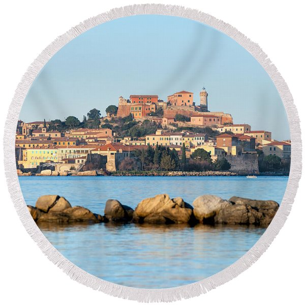 Elba - Portoferraio Round Beach Towel