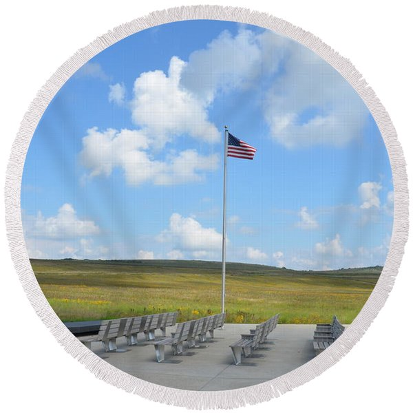 Flight 93 Memorial Round Beach Towel
