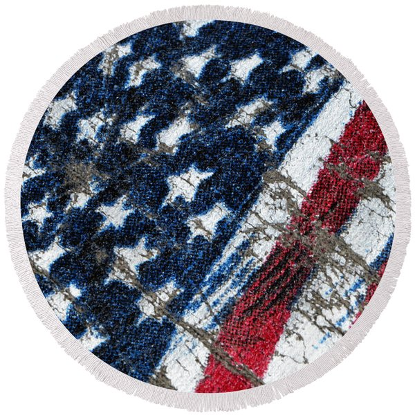 Grand Ol' Flag Round Beach Towel