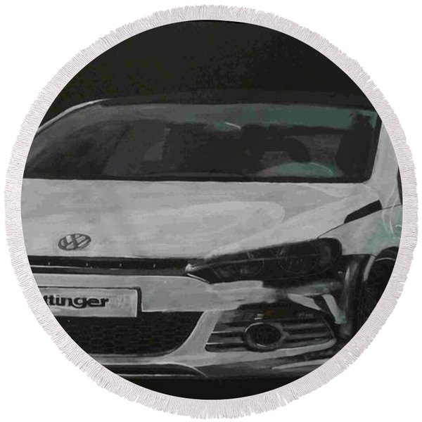 Oettinger Vw Scirocco  Round Beach Towel