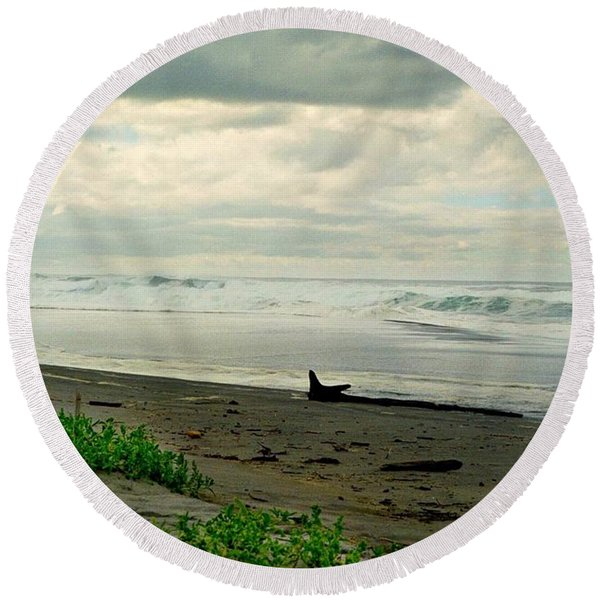Oregon Coast 17 Round Beach Towel
