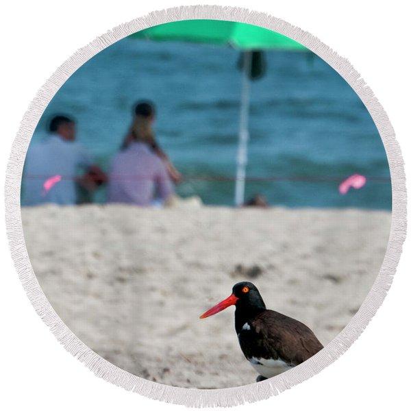 Parenting On A Beach Round Beach Towel