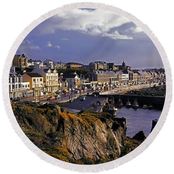 Portstewart, Co Derry, Ireland Seaside Round Beach Towel