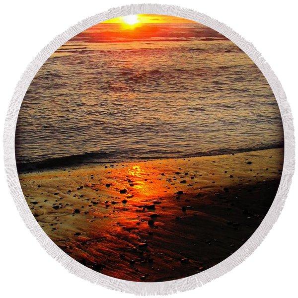 Sun Kissed Round Beach Towel