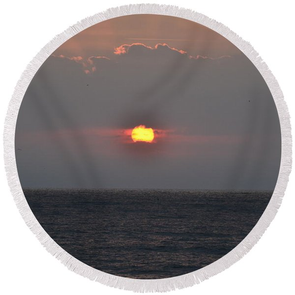 Sunrise In Melbourne Fla Round Beach Towel