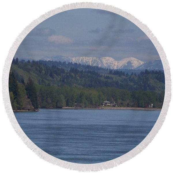 Willapa Hills Round Beach Towel