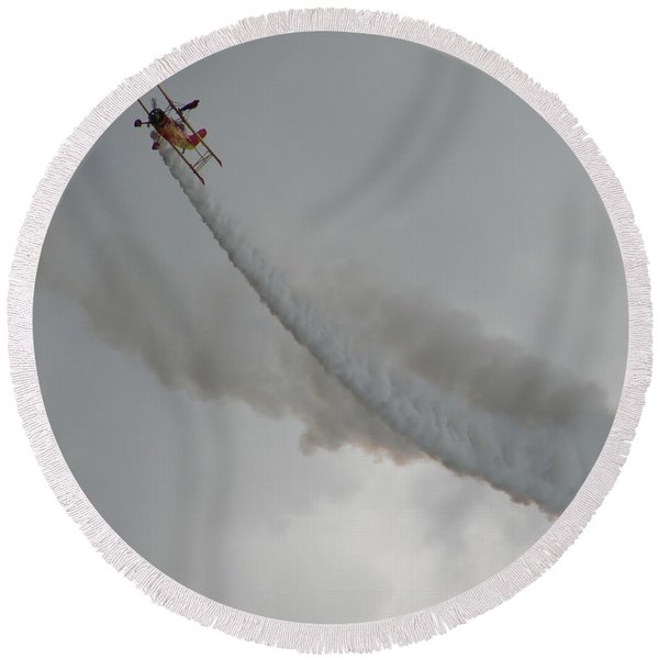 Wing Walker Round Beach Towel