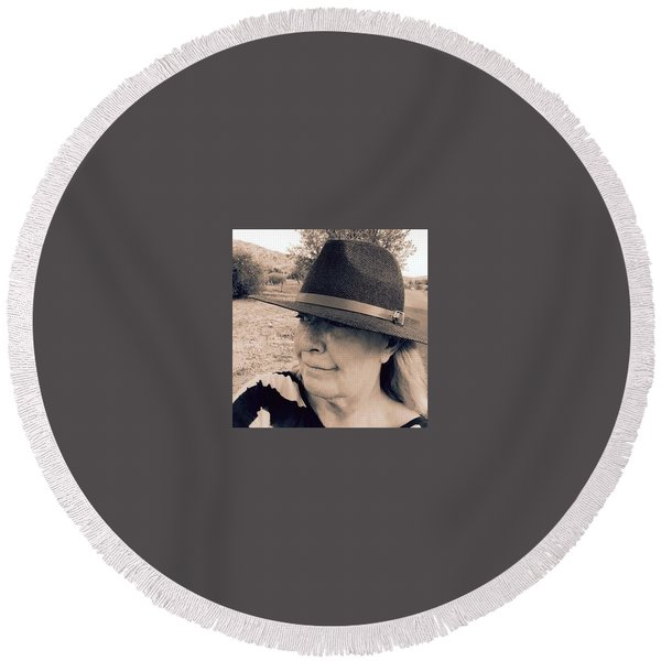 Round Beach Towel featuring the photograph Almeria Spain August 2016 by Colette V Hera Guggenheim