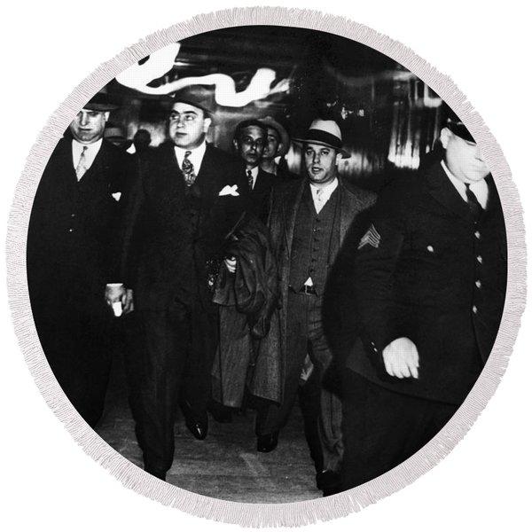 Alphonse Capone (1899-1947) Round Beach Towel
