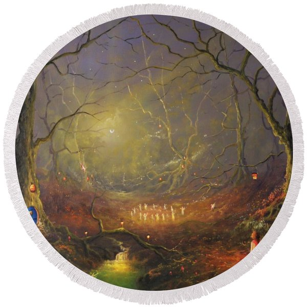 The Enchanted Forest Round Beach Towel