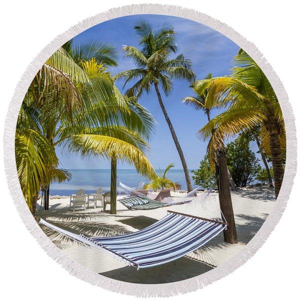 Florida Keys Heavenly Place Round Beach Towel