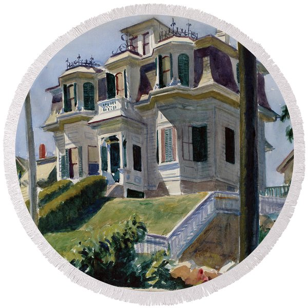 Haskell's House Round Beach Towel