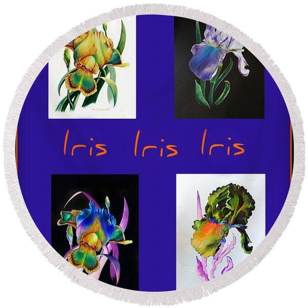 Iris Round Beach Towel