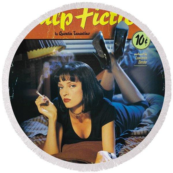 Pulp Fiction 1994 Round Beach Towel