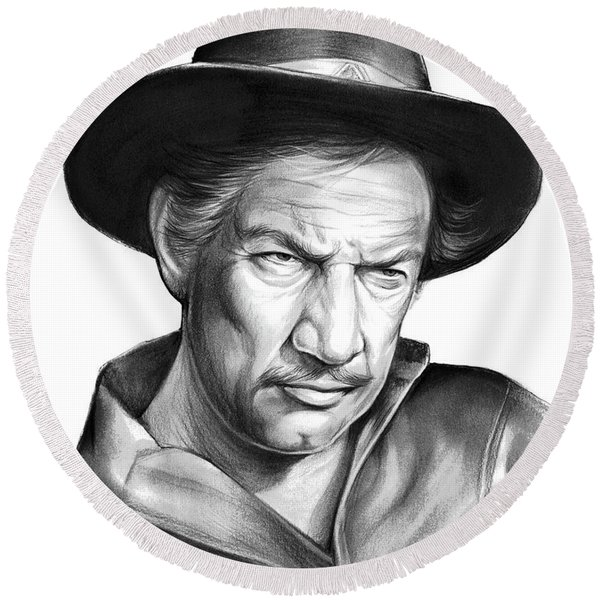 Richard Boone Round Beach Towel