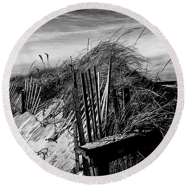 Sandy Neck Winter Light Round Beach Towel