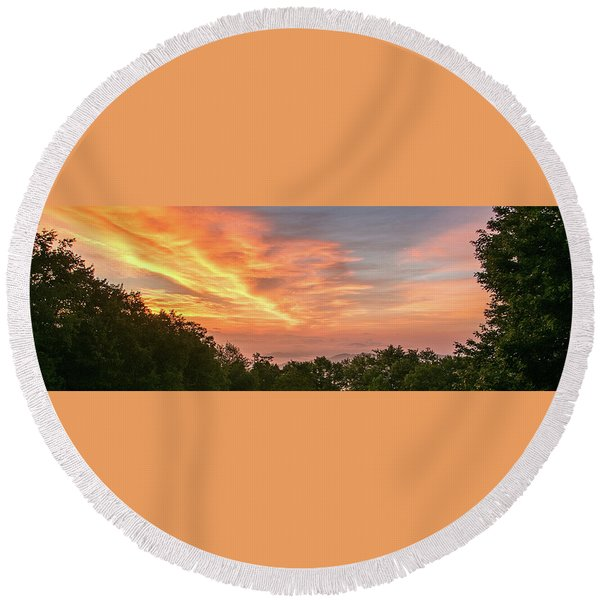 Sunrise July 22 2015 Round Beach Towel