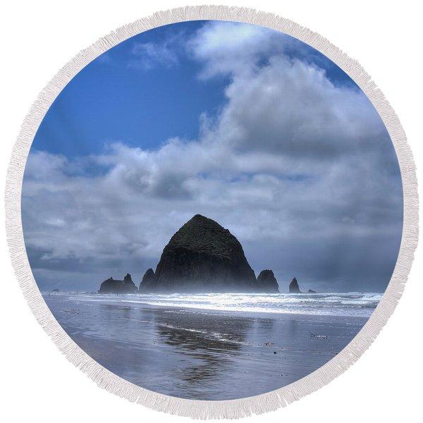 The Rock Round Beach Towel
