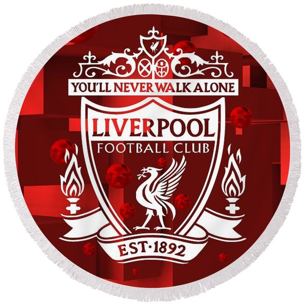 Tribute To Liverpool 3 Round Beach Towel
