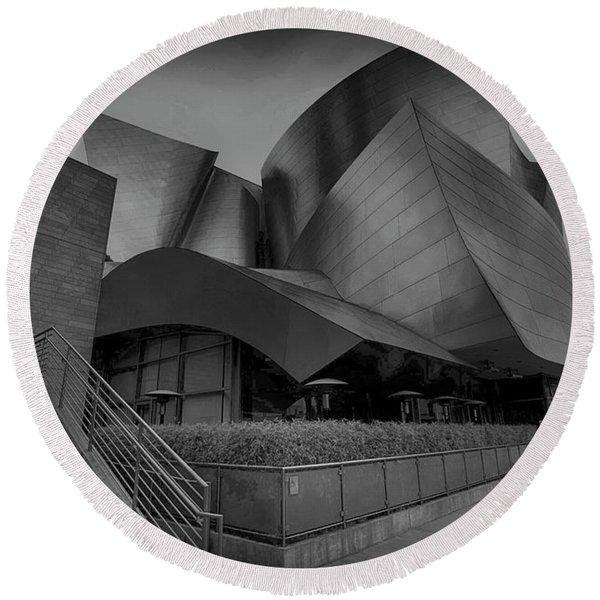 Walt Disney Concert Hall - 5 Round Beach Towel