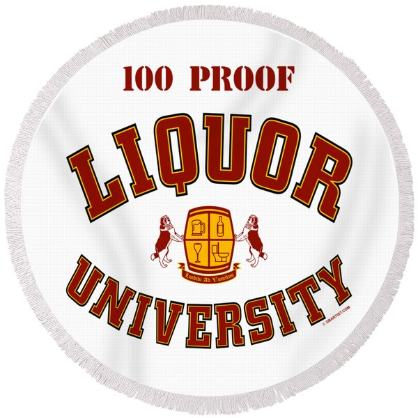 100 Proof Round Beach Towel