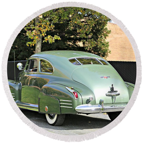 1941 Cadillac Coupe Round Beach Towel