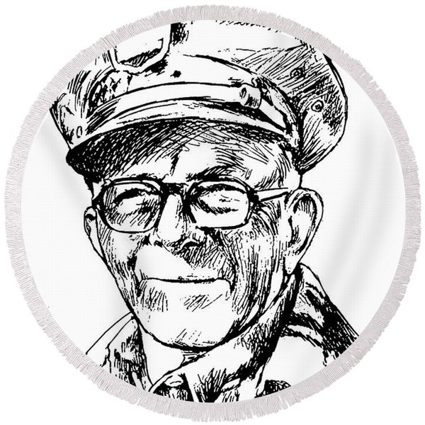 George Burns Round Beach Towel