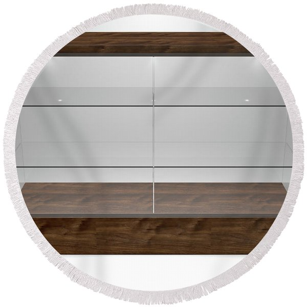 Glass Display Cabinet Round Beach Towel