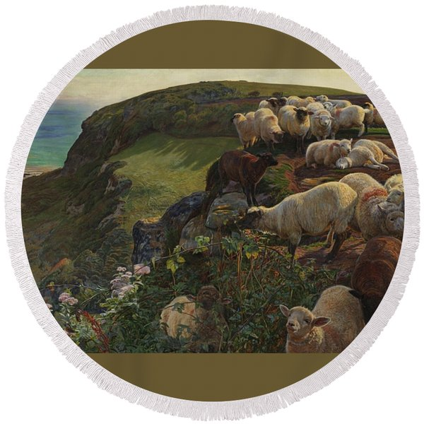 Our English Coasts Round Beach Towel