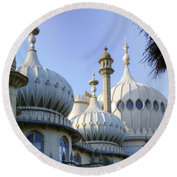 Royal Pavilion Brighton Round Beach Towel