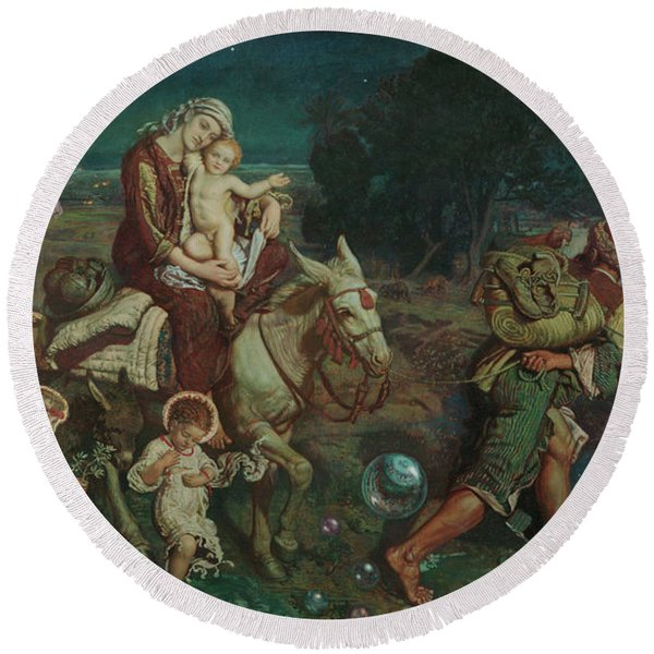 The Triumph Of The Innocents Round Beach Towel