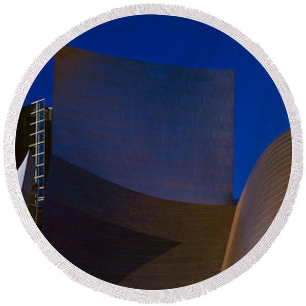 Walt Disney Concert Hall, Los Angeles Round Beach Towel