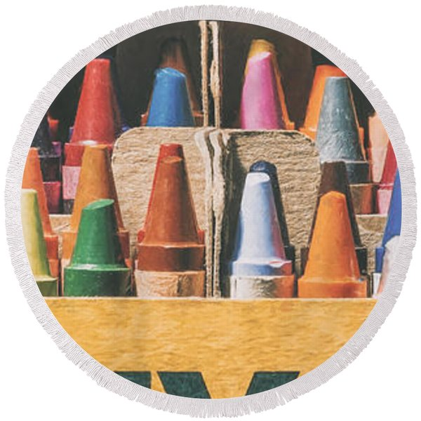 64 Colors Round Beach Towel