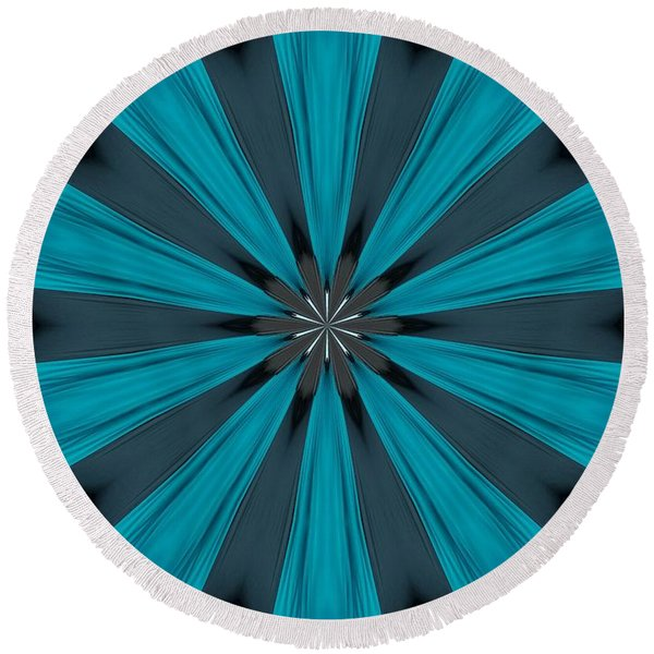 A Burst Of Blue Round Beach Towel