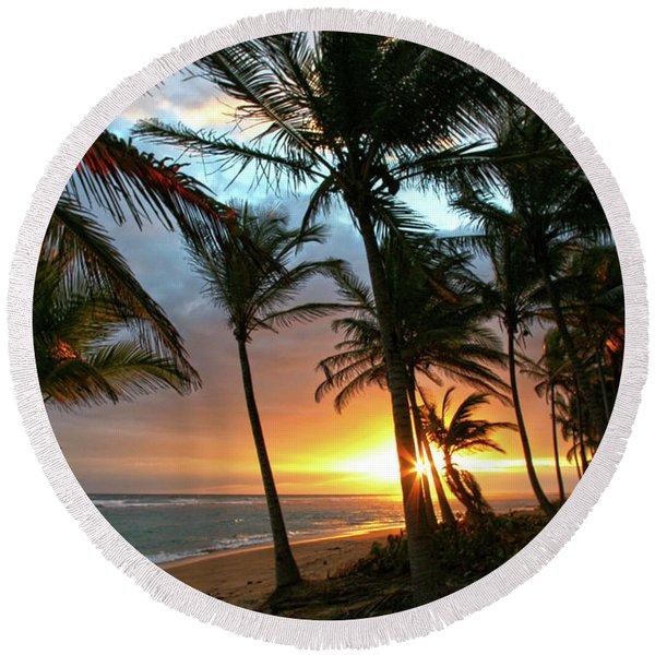 A Place I Know Round Beach Towel