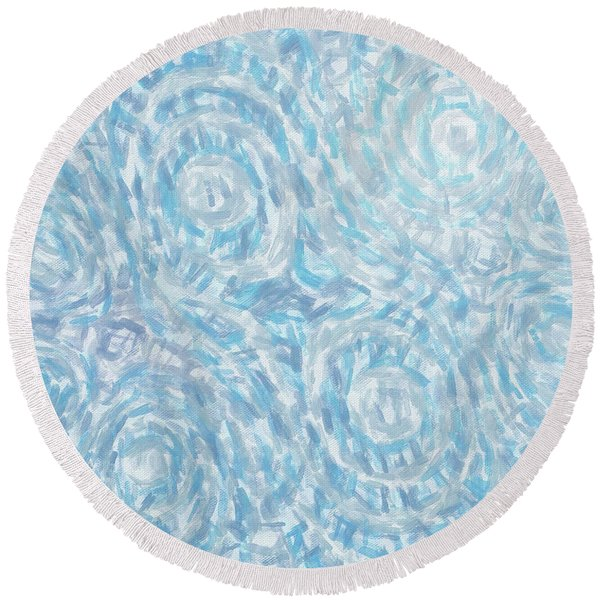 Abstract 432 Round Beach Towel