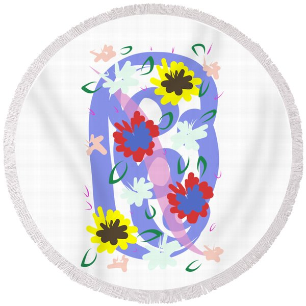 Abstract Garden #1 Round Beach Towel